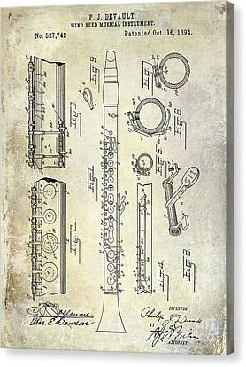 1894 Clarinet Patent Canvas Print