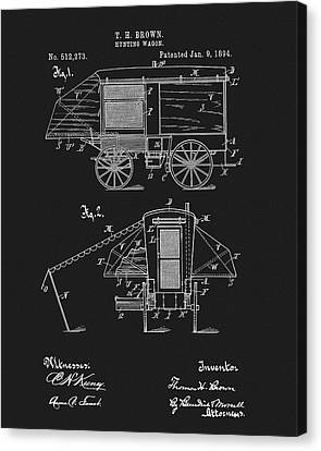 Wagon Canvas Print - 1894 Hunting Wagon Patent by Dan Sproul