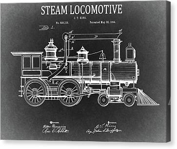 1894 Steam Locomotive Blueprint Canvas Print by Dan Sproul