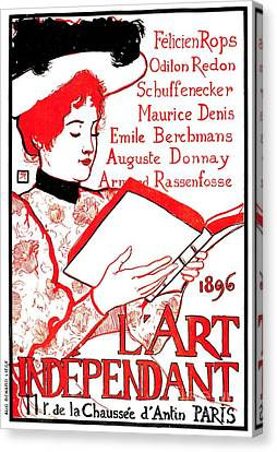 1896 Art Independant Literary Cover Canvas Print by Heidi De Leeuw