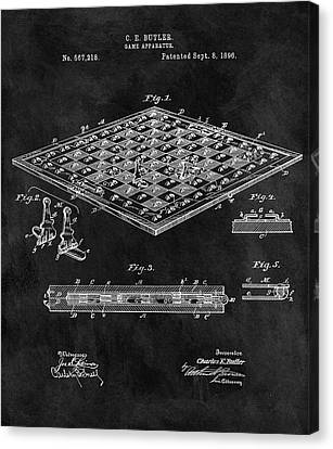 1896 Chessboard Patent Canvas Print by Dan Sproul