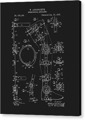 1897 Artificial Leg Patent Canvas Print by Dan Sproul