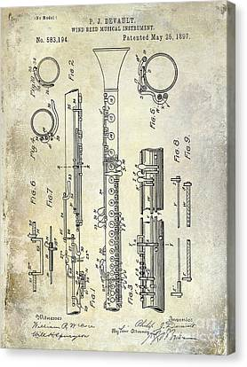 1897 Clarinet Patent  Canvas Print