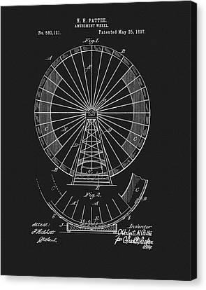 1897 Ferris Wheel Patent Canvas Print by Dan Sproul