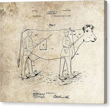 Remington Canvas Print - 1897 Hunting Decoy Patent by Dan Sproul