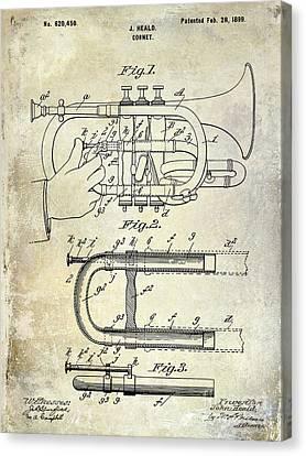 1899 Cornet Patent Canvas Print by Jon Neidert
