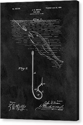1899 Fishing Hook Patent Canvas Print by Dan Sproul