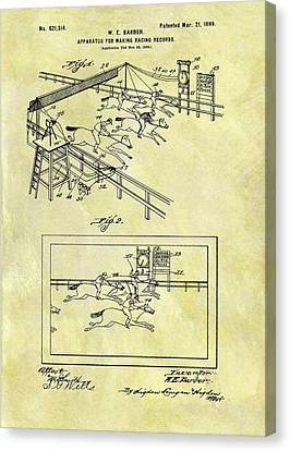 1899 Horse Racing Track Patent Canvas Print