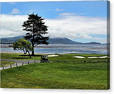 18th At Pebble Beach Horizontal Canvas Print