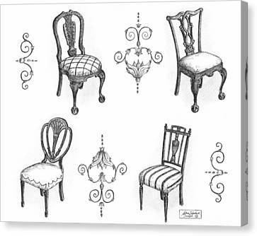 18th Century English Chairs Canvas Print by Adam Zebediah Joseph