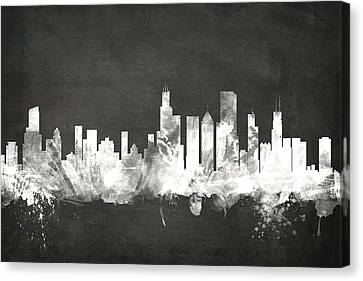 Chicago Illinois Skyline Canvas Print by Michael Tompsett