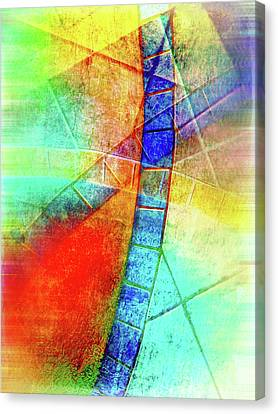 Digital Abstract Painting Canvas Print by Tom Gowanlock