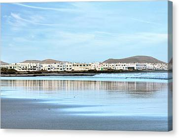 Sandy Beach Canvas Print - Famara - Lanzarote by Joana Kruse