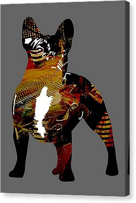 French Bulldog Collection Canvas Print by Marvin Blaine
