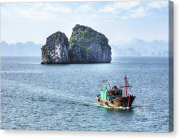 Indochina Canvas Print - Halong Bay - Vietnam by Joana Kruse