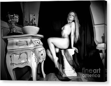 Mary, Erotic Art Photography By Frank Falcon Canvas Print