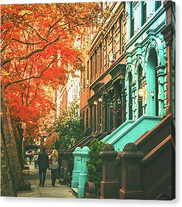 Brownstone Canvas Print - New York City  by Vivienne Gucwa
