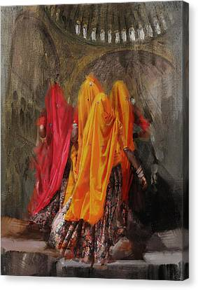 Punjab Canvas Print - 19 Pakistan Folk B by Maryam Mughal