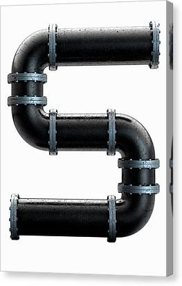 Pvc Pipe Letter Concept Canvas Print by Allan Swart
