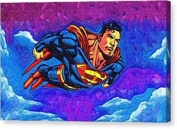 Superman Costume Canvas Print