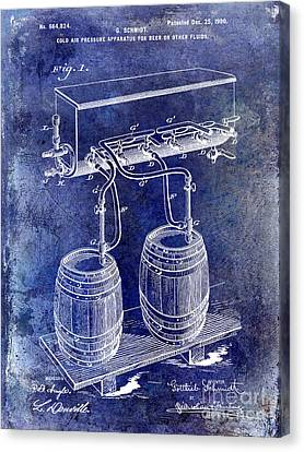 1900 Beer Keg System Patent Canvas Print by Jon Neidert