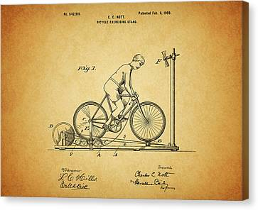 1900 Bicycle Exercise Stand Canvas Print by Dan Sproul