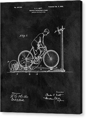 Nike Canvas Print - 1900 Exercise Bike Patent by Dan Sproul