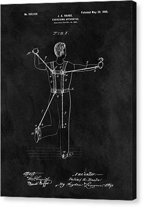 Nike Canvas Print - 1900 Exercise Equipment Patent by Dan Sproul