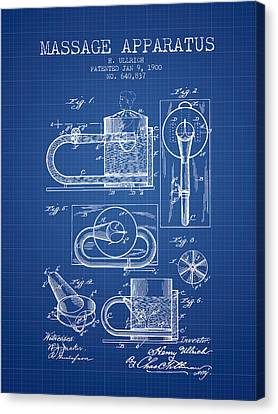 1900 Massage Apparatus Patent - Blueprint Canvas Print