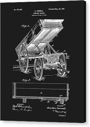 1901 Dumping Wagon Patent Canvas Print
