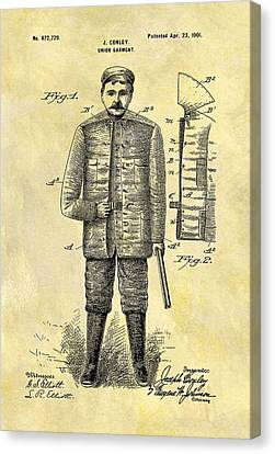 Remington Canvas Print - 1901 Hunting Jacket Patent by Dan Sproul