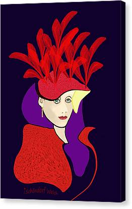 1901 - The Red Ascot Hat Canvas Print