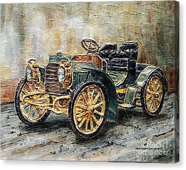 1901 Mercedes Benz Canvas Print by Joey Agbayani