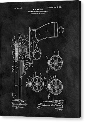 1901 Revolver Patent Canvas Print by Dan Sproul