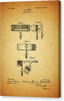 1902 Hair Curler Patent Canvas Print