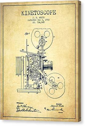 1902 Kinetoscope Patent - Vintage Canvas Print