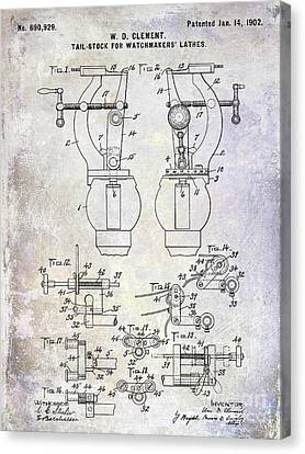 1902 Watchmakers Lathes Patent Canvas Print