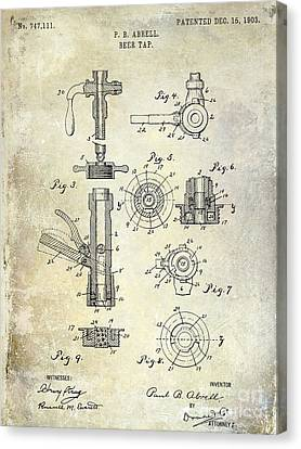 1903 Beer Tap Patent Canvas Print