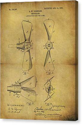 1903 Boat Propeller Patent Canvas Print by Dan Sproul