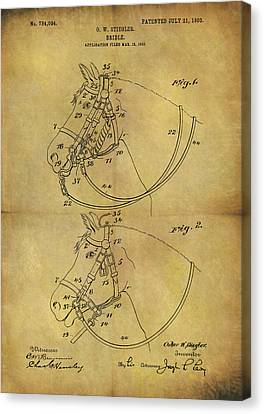 1903 Bridle Patent Canvas Print by Dan Sproul