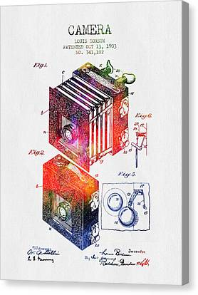 1903 Camera Patent - Color Canvas Print by Aged Pixel
