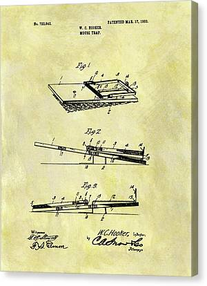 1903 Mouse Trap Patent Canvas Print by Dan Sproul