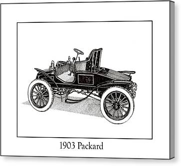 1903 Packard Canvas Print by Jack Pumphrey