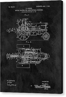 1903 Tractor Blueprint Patent Canvas Print