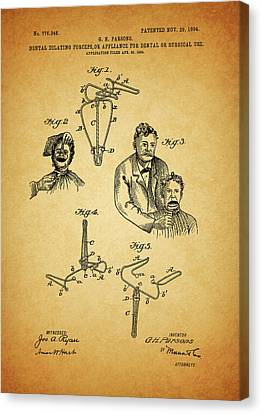 1904 Dental Forceps Patent Canvas Print by Dan Sproul