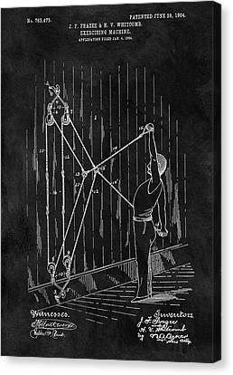 Nike Canvas Print - 1904 Exercise Apparatus Patent by Dan Sproul
