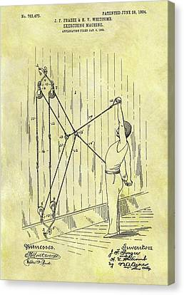 Nike Canvas Print - 1904 Exercising Machine Patent by Dan Sproul