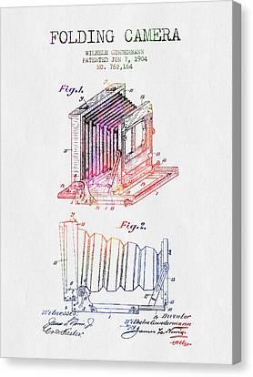 1904 Folding Camera Patent - Color Canvas Print