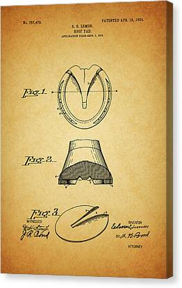 1904 Horse Shoe Patent Canvas Print by Dan Sproul