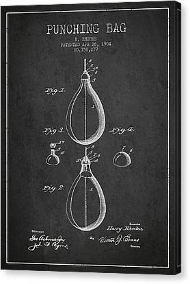 1904 Punching Bag Patent Spbx12_cg Canvas Print by Aged Pixel